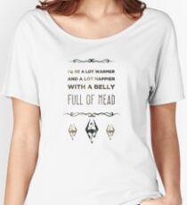 Skyrim Belly Full Of Mead Women's Relaxed Fit T-Shirt
