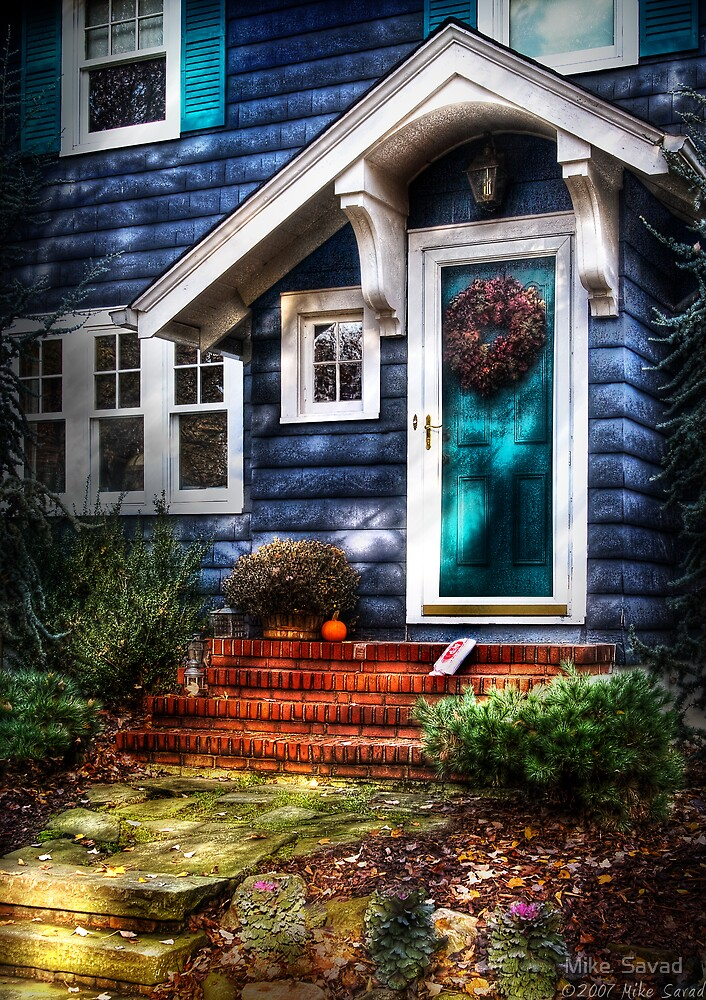 The blue house by Michael Savad