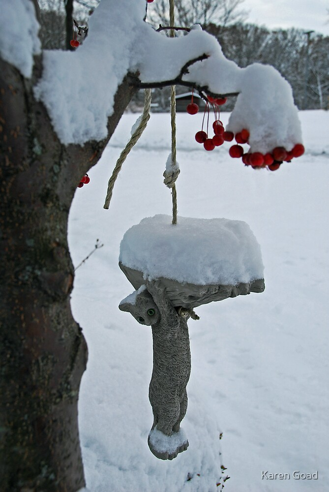 Cat-in-the-snow by Karen Goad
