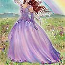 Spring Rainbow fairy art by Renee L Lavoie by Renee Lavoie