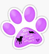 Animal Abuse Awareness II Sticker