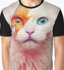 David Meowie - Catladdin Sane Graphic T-Shirt