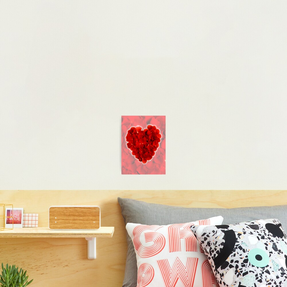 Rose petal heart 3 Photographic Print