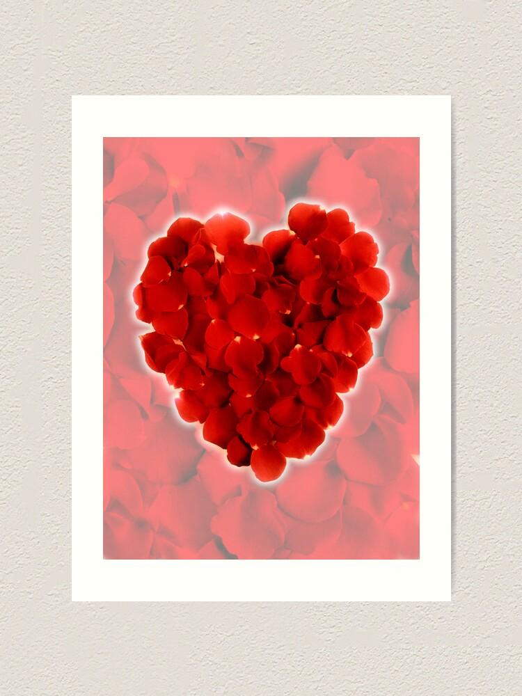 Alternate view of Rose petal heart 3 Art Print