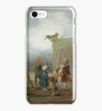 Francisco De Goya Y Lucientes - The Strolling Players iPhone Case/Skin