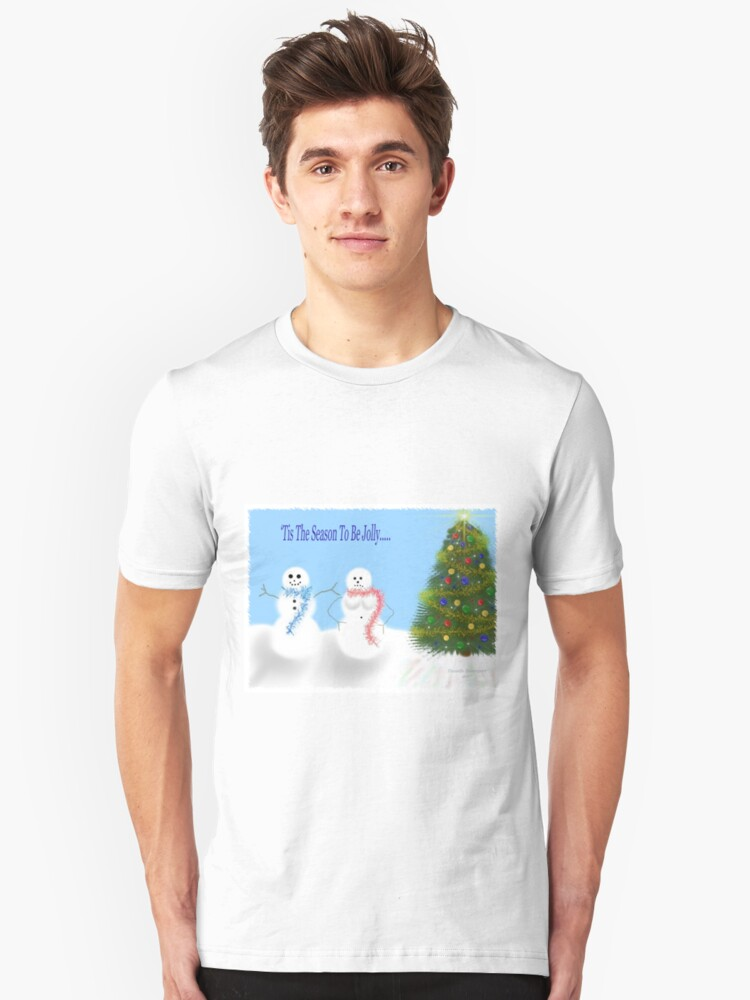 The Naughty Snowman 1 Unisex T-Shirt Front