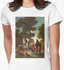Francisco De Goya Y Lucientes - An Avenue In Andalusia Or The Maja And The Cloaked Men T-Shirt
