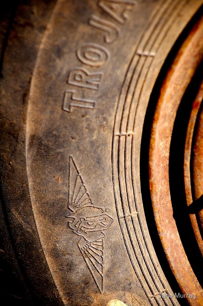 trojan tyre 1420 by Jane Murray
