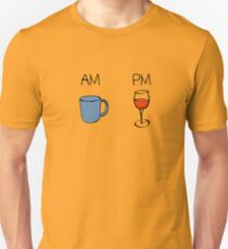 AM Coffee PM Wine  T-Shirt