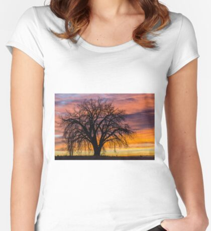 Cotton Wood Sunrise Women's Fitted Scoop T-Shirt