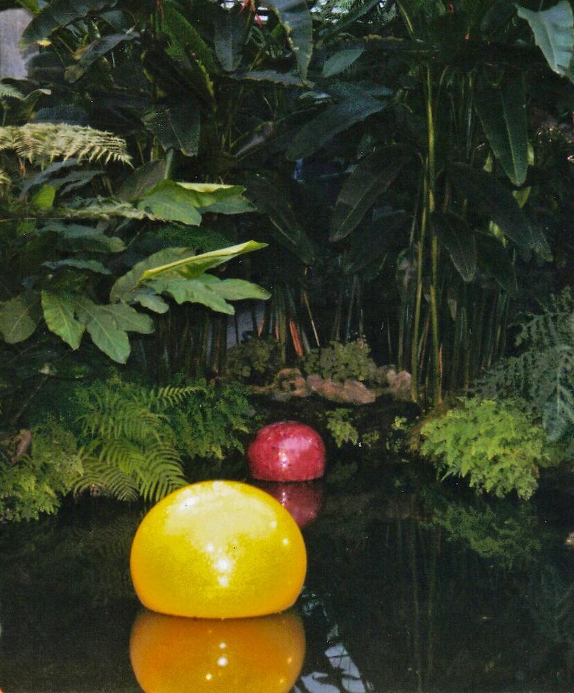 Glass Bubbles on Water by Sheri Ann Richerson