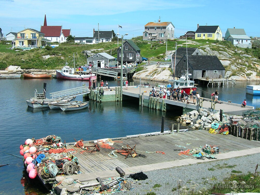 Peggy's Cove by Matte Downey