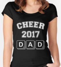 Cheer 2017 Dad Women's Fitted Scoop T-Shirt