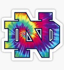 Notre Dame Tie Dye Sticker