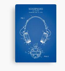 Headphones Canvas Print