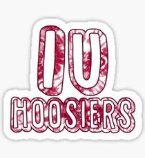 Indiana University Hoosier Tie Dye Sticker