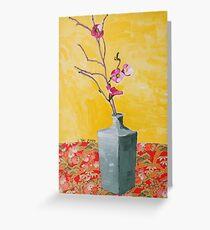 cherry blossum in vase Greeting Card