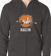 Austin skyline Zipped Hoodie