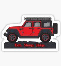 Red Jeep Wrangler Sticker