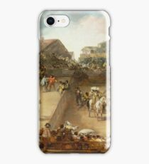 Francisco De Goya Y Lucientes - Bullfight In A Divided Ring iPhone Case/Skin