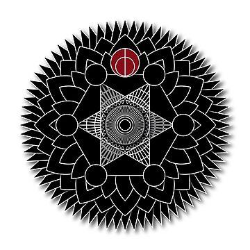 Mandala one - Black by sjrollings