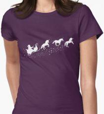 Einhorn-Rentiere Womens Fitted T-Shirt