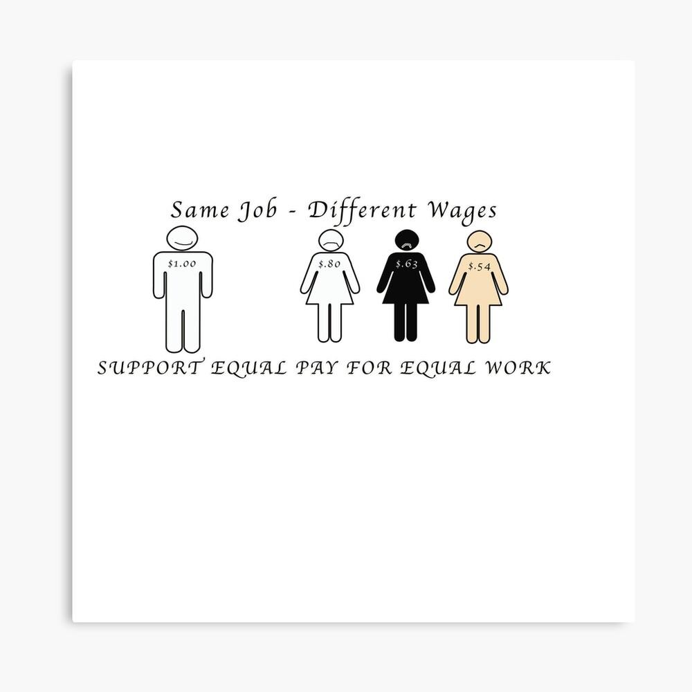 Salario igual para trabajos iguales Lienzo