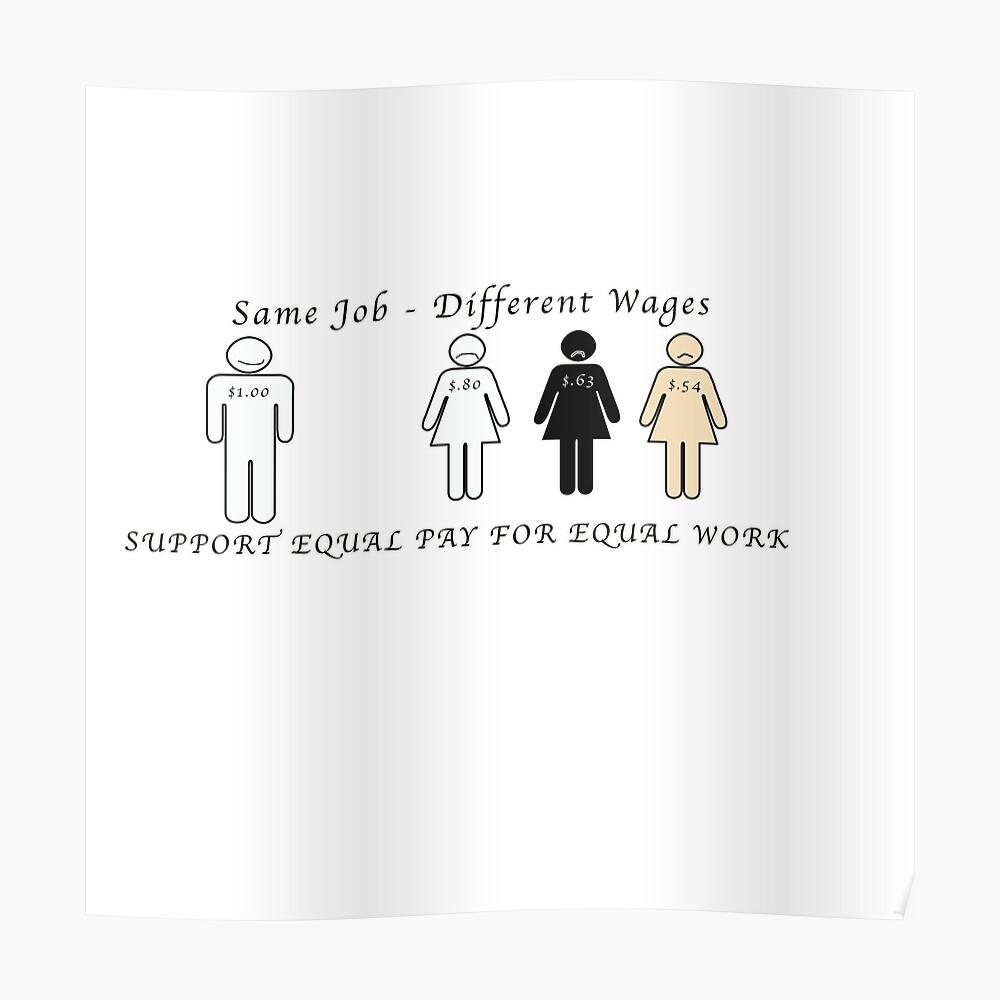 Salario igual para trabajos iguales Póster