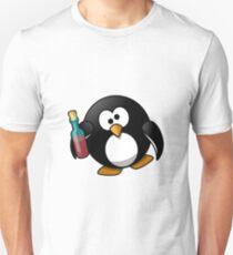 Betrunkener Pinguin Unisex T-Shirt
