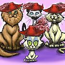 Cats in Red Hats by Kevin Middleton