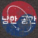 South Korea Space - Fictional company logo - Worn/Grunge Effect by EdwardDunning