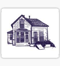 abandoned house Sticker