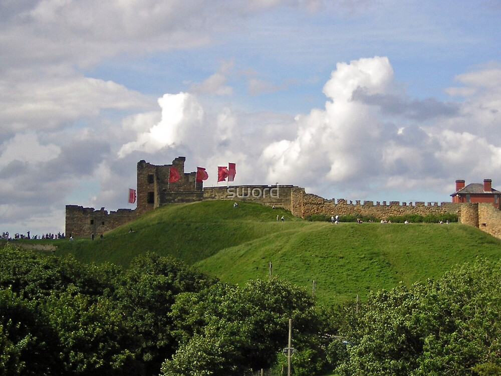 Tynemouth castle  by sword