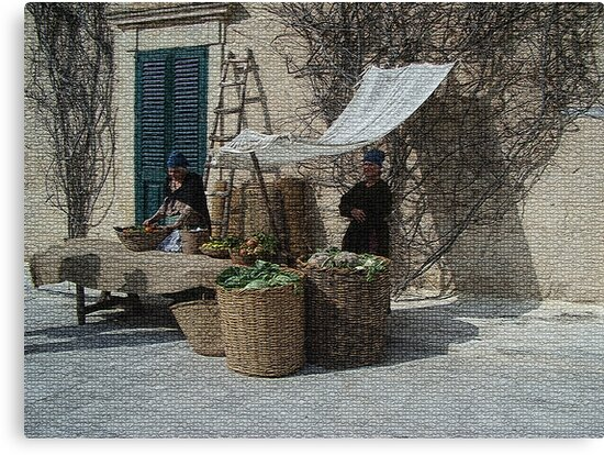 From the past (1 of 4) - Vegetables and Fruit sellers by Christian  Zammit