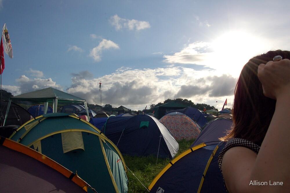 Glastonbury Camping by Allison Lane