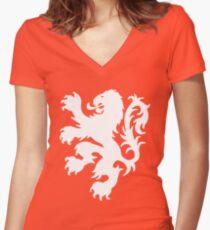 Koningsdag Leeuw 2017 - King's Day Netherlands Celebration Nederland Women's Fitted V-Neck T-Shirt