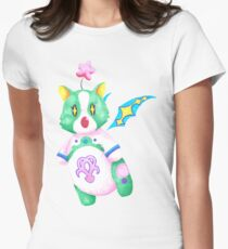 Dream eater-style moogle Women's Fitted T-Shirt