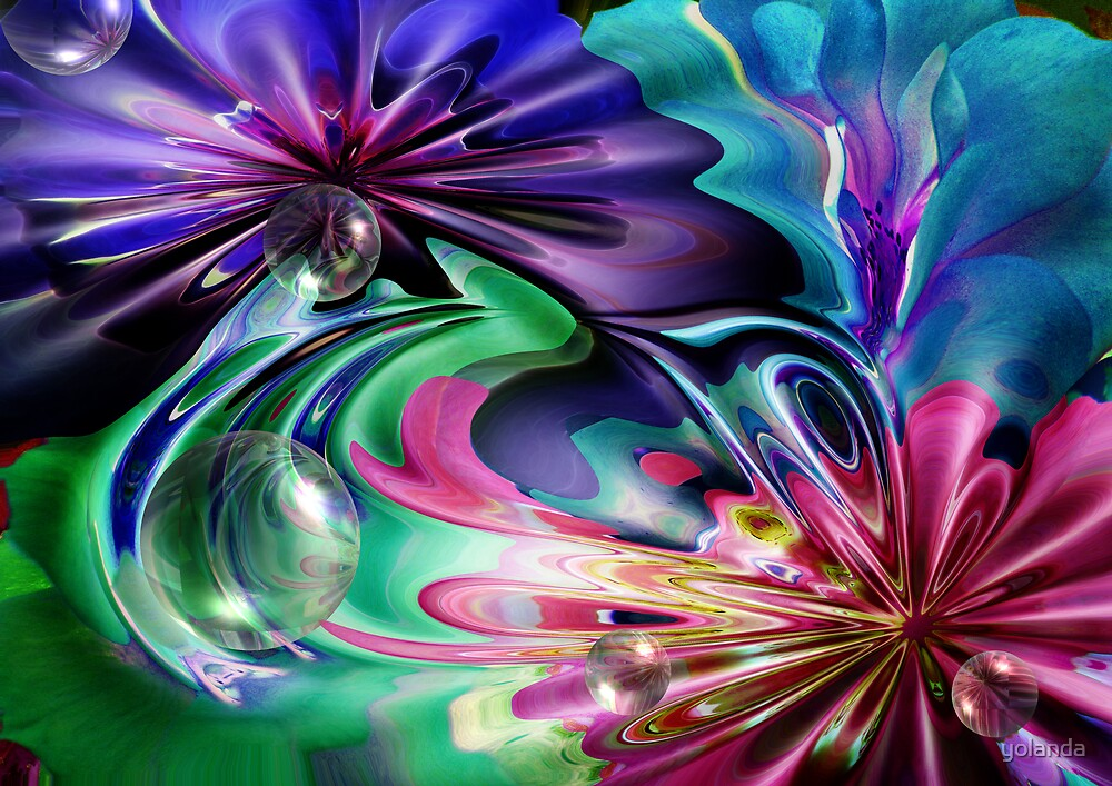 Just Colours and Bubbles by yolanda