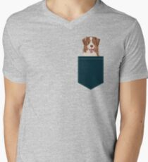 Hollis - Australian Shepherd gifts for dog lovers dog owner gifts and perfect gift for dog person Men's V-Neck T-Shirt