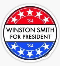 WINSTON SMITH FOR PRESIDENT '84 Sticker