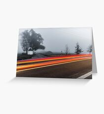 Fog on the hill Greeting Card
