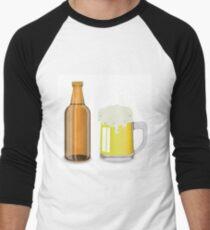 bottle and mug of beer Men's Baseball ¾ T-Shirt