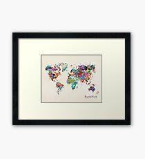 a beautiful world Framed Print