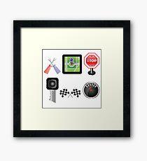 car icons Framed Print