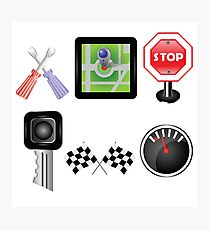 car icons Photographic Print