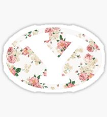 BYU Floral Sticker