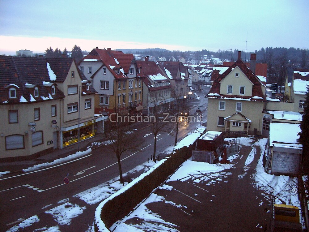 Snow over the town by Christian  Zammit