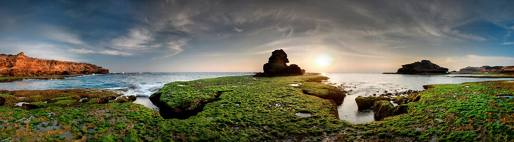 Green Rock Shelf Pan by Robert Mullner