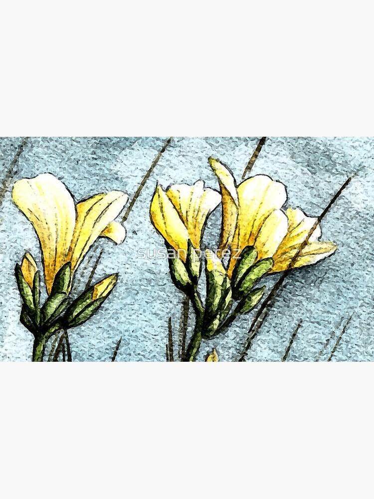 Feld Blumen in der Dämmerung von susanPerez