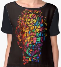 Bill Murray Stained Glass Mosaic Sharpie Marker Art Chiffon Top